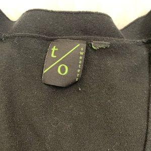 t/o Sweaters - 🤑$8 FINAL PRICE🤑t/o sweaters black crop cardigan